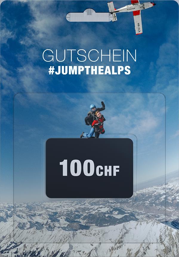 Fallschirmsprung Interlaken Gutschein 100chf